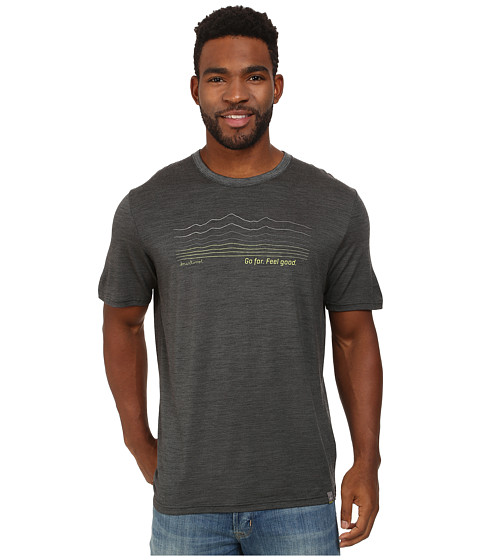 Smartwool - Topography Tee (Charcoal) Men