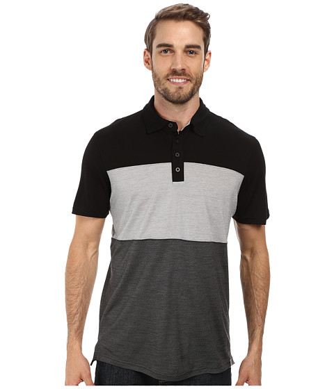 Smartwool - Routt County Polo Shirt (Black) Men's Short Sleeve Knit