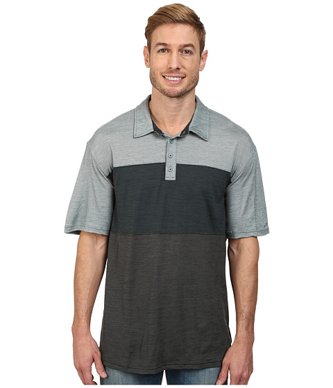 Smartwool - Routt County Polo Shirt (Sea Pine) Men's Short Sleeve Knit