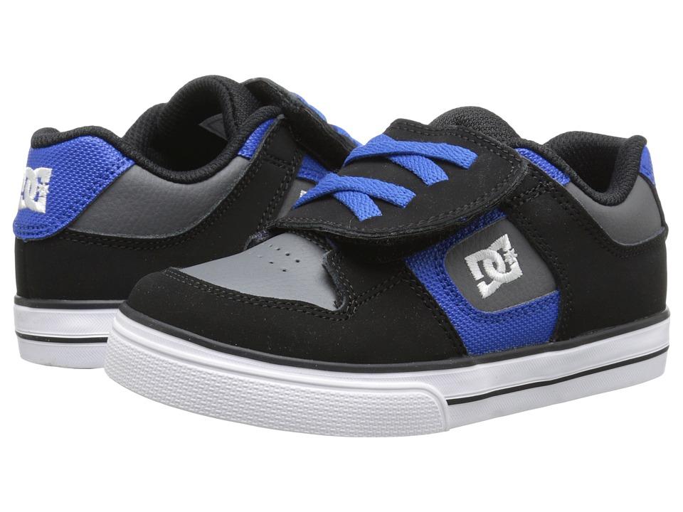 DC Kids - Pure V (Toddler) (Black/Battleship/Royal) Boys Shoes