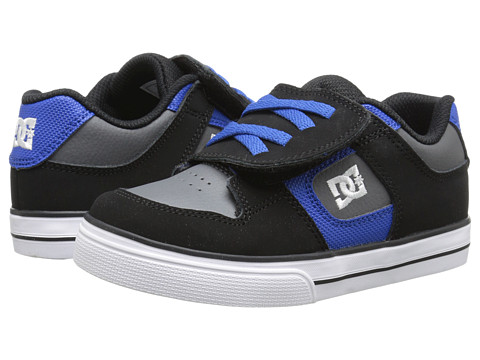 DC Kids - Pure V (Toddler) (Black/Battleship/Royal) Boys Shoes
