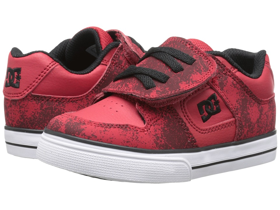 DC Kids - Pure V (Toddler) (Athletic Red/Black) Boys Shoes