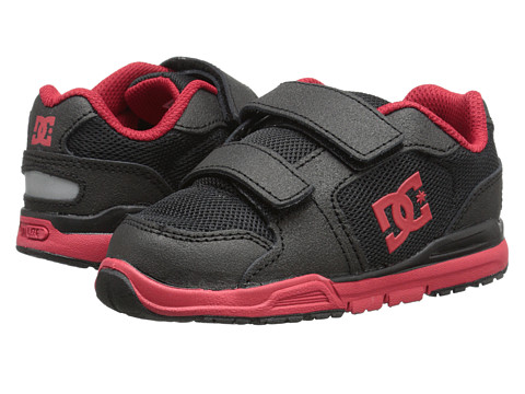 DC - Forter V (Toddler) (Black/Athletic Red) Men's Skate Shoes