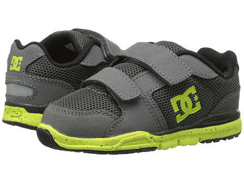 DC Kids - Forter V (Toddler) (Grey/Lime Green) Boys Shoes