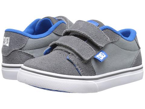 DC Kids - Anvil V (Toddler) (Grey/Blue/White) Boys Shoes