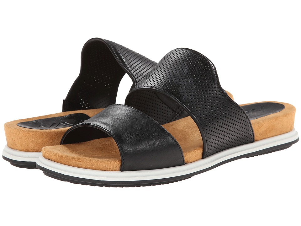 Naya - Korthay (Black Leather) Women's Sandals