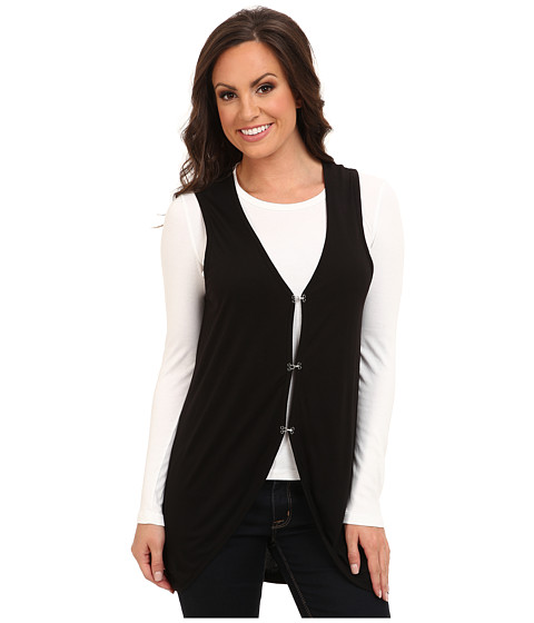 Cruel - Rayon Knit Vest w/ Laser Cut Back (Black) Women