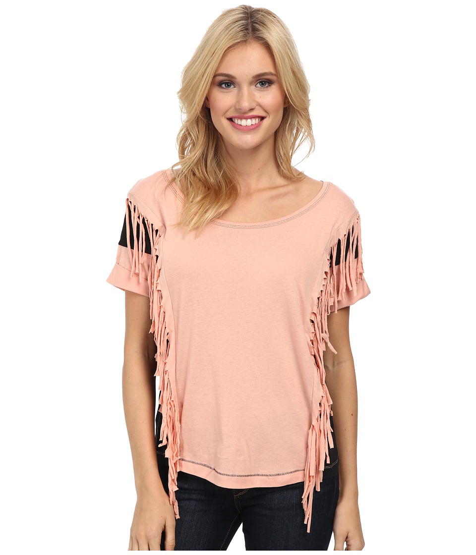 Cruel - Drop Shoulder Knit Top (Pink) Women's Clothing