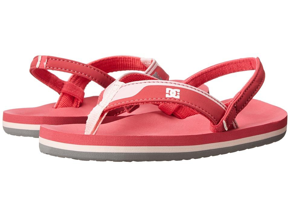 DC Kids - Grommet (Toddler) (Raspberry) Girls Shoes