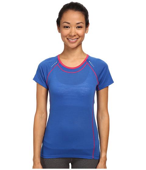 Smartwool - PhD Ultra Light Short Sleeve Top (Bright Blue) Women's Short Sleeve Pullover