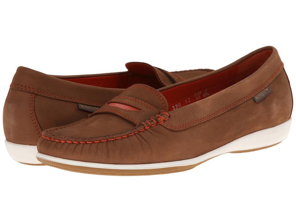 Mephisto - Axena (Spice Bucksoft/Orange) Women's Slip on Shoes