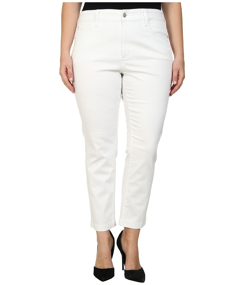 NYDJ Plus Size - Plus Size Audrey Ankle (Optic White) Women's Casual Pants