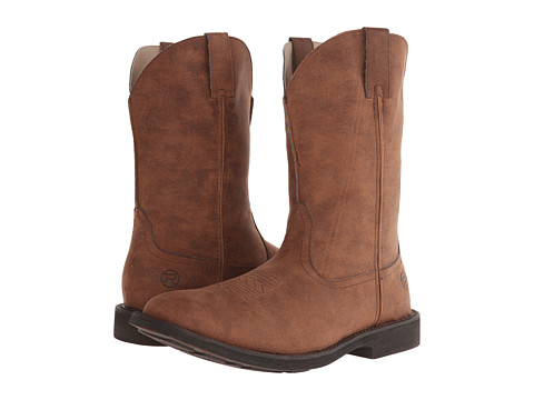 Roper - Rider Sole Square Toe Boot (Brown) Cowboy Boots