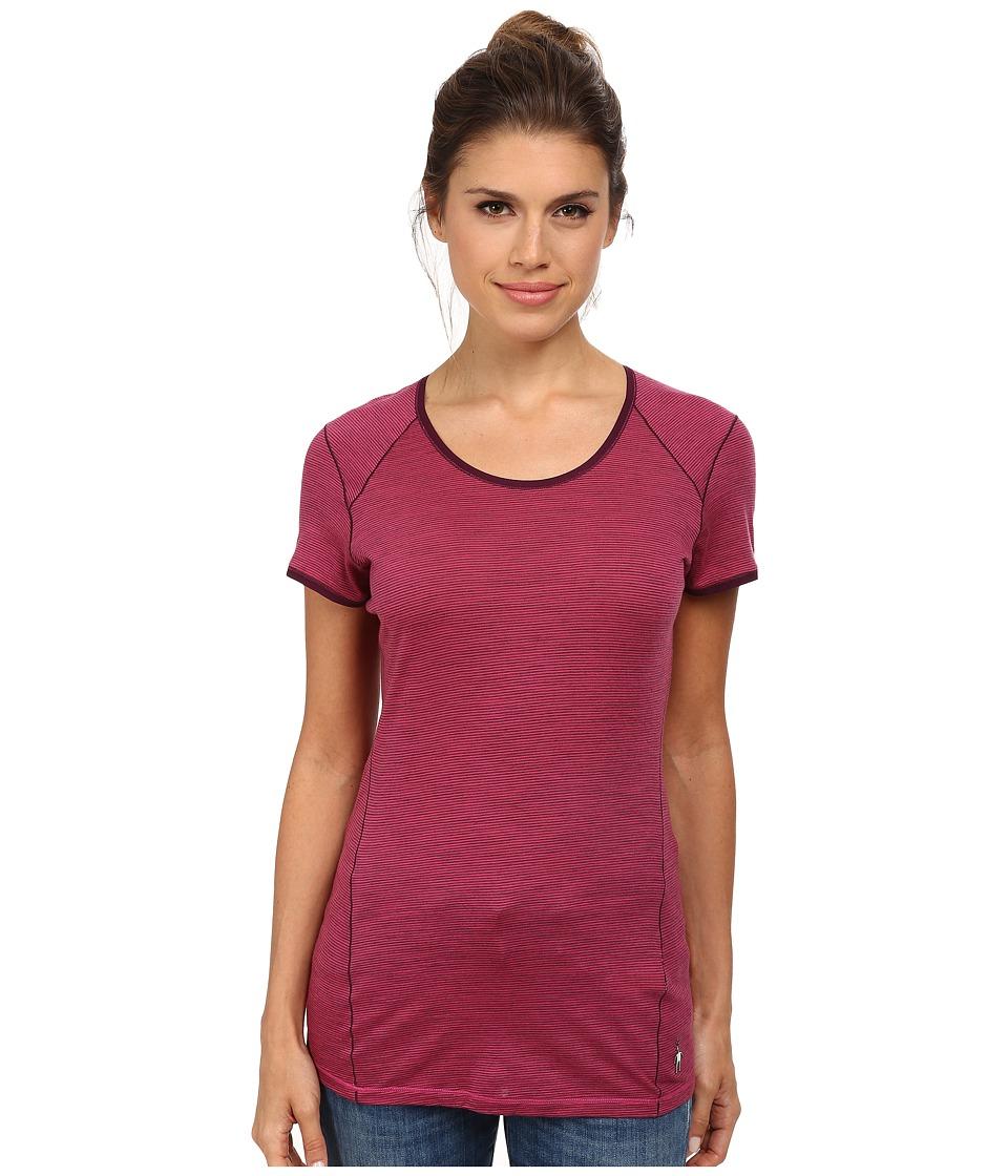 Smartwool - NTS Micro 150 Pattern Tee (Bright Pink) Women's T Shirt
