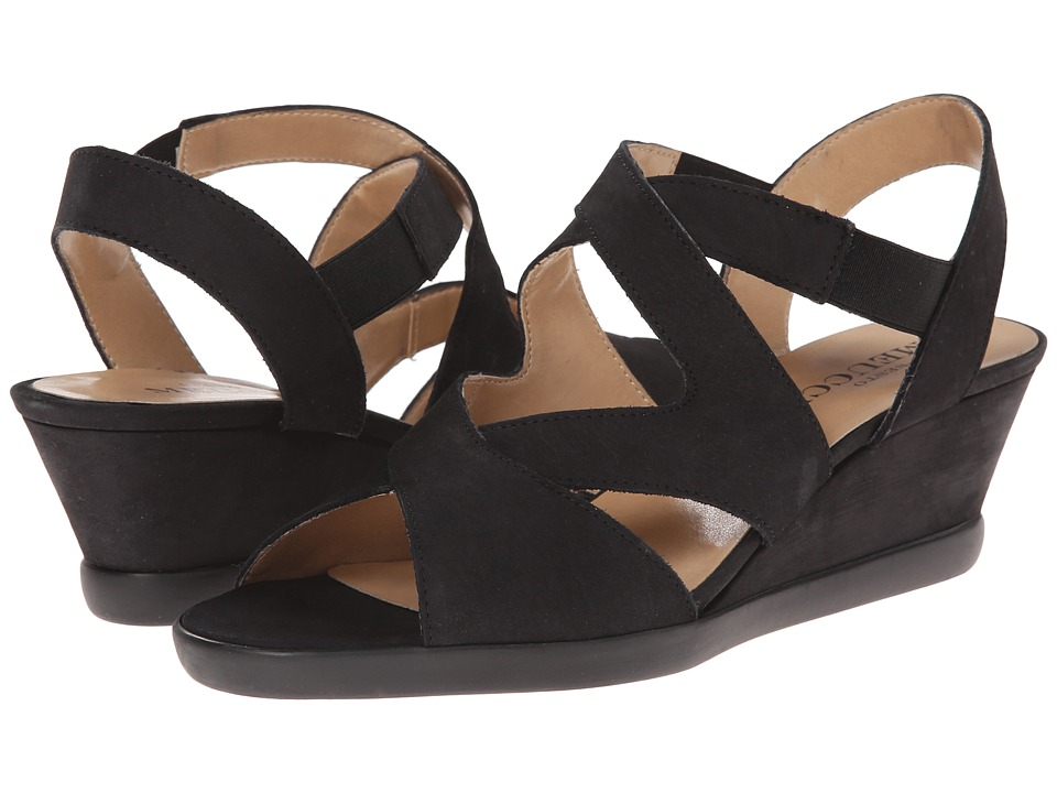 Sesto Meucci - Noreen (Black Nabuck) Women's Wedge Shoes
