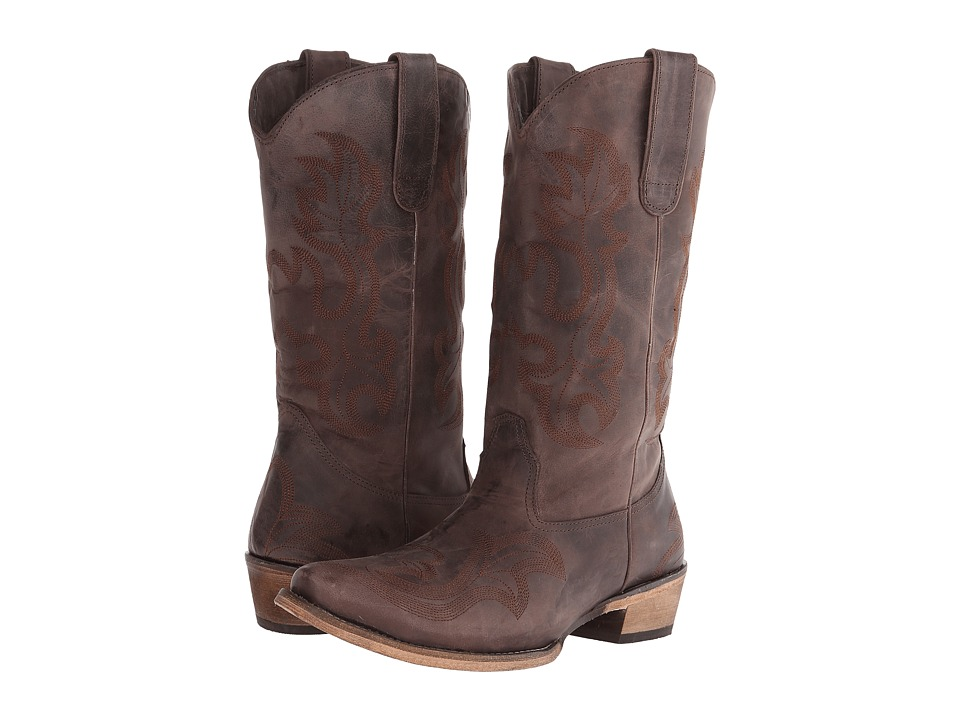 Roper - Brush Off Tonal Stitch Snip Toe Boot (Brown) Cowboy Boots