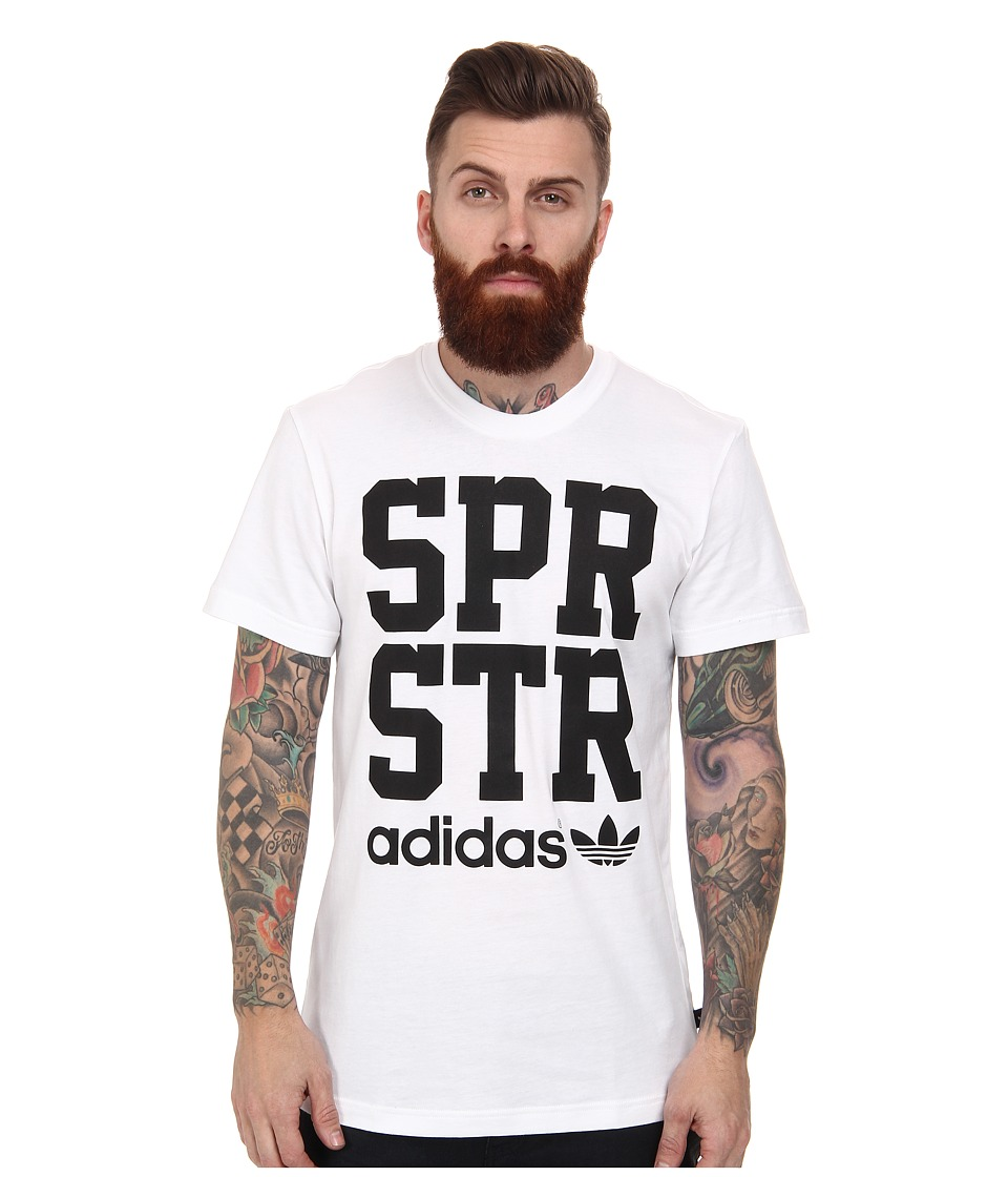 adidas Originals - SPR STR Graphic Tee (White/Black) Men's T Shirt