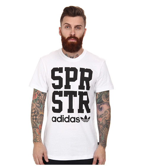 adidas Originals - SPR STR Graphic Tee (White/Black) Men