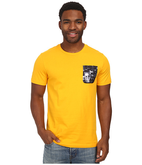 adidas Originals - Cityscape Pocket Tee (Collegiate Gold/Black/White) Men's T Shirt
