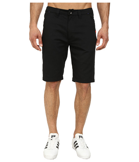 adidas Originals - Sport Luxe Twill Short (Black/Red/Night Flash) Men