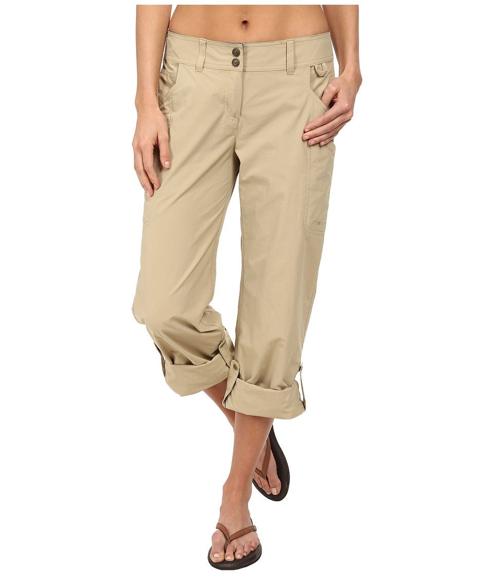ExOfficio - Nomad Roll-up Pant (Light Khaki) Women's Casual Pants