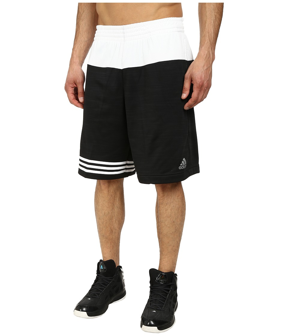 adidas - Team Speed Heather Short (Black/White) Men's Shorts
