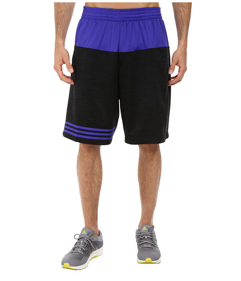 adidas - Team Speed Heather Short (Black/Night Flash S15) Men's Shorts