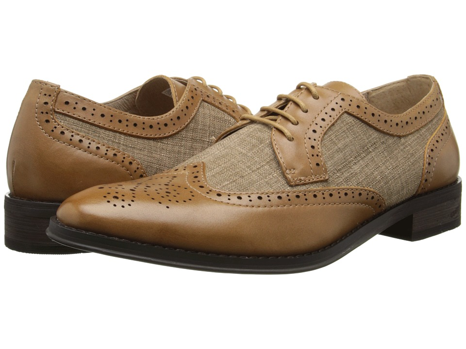 VIONIC - Roth (Camel) Men's Lace Up Wing Tip Shoes