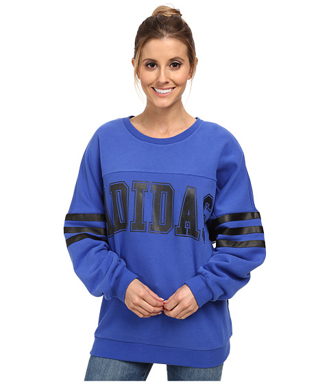 adidas Originals - NY Sweater (Bold Blue/Black) Women