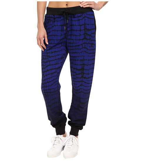 adidas Originals - NY Printed Cuffed Track Pant (Black/Bold Blue) Women's Casual Pants
