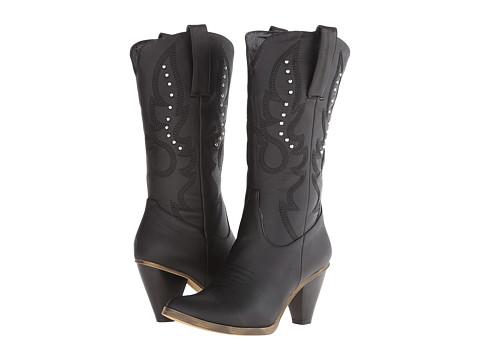 Roper - Sexy Stud Fashion Boot (Black) Cowboy Boots