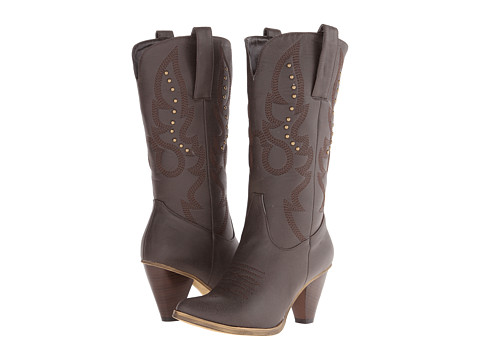 Roper - Sexy Stud Fashion Boot (Brown) Cowboy Boots