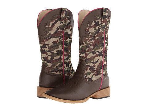 Roper - Shimmering Camo Square Toe Boot (Brown) Cowboy Boots