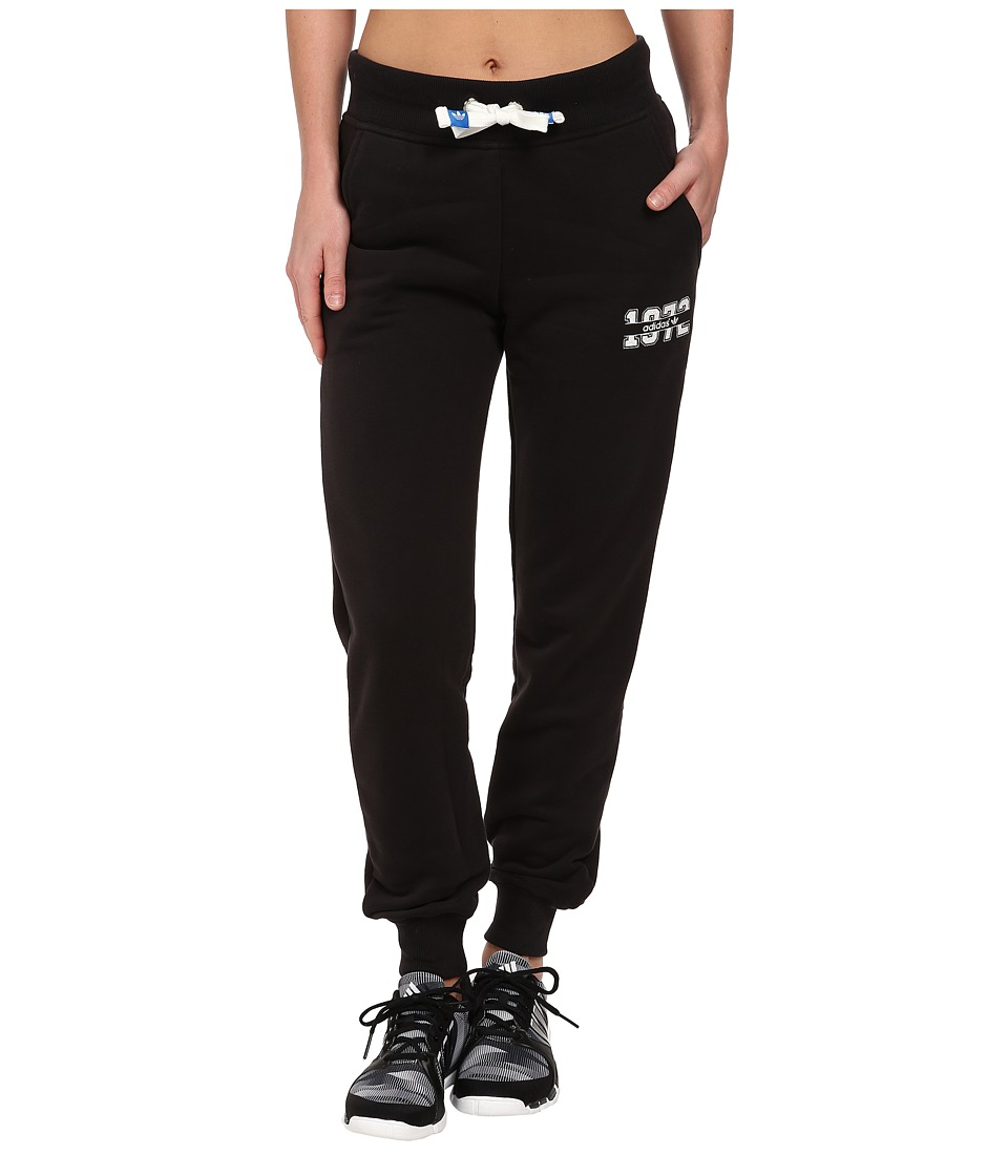 adidas Originals - Super Logo Essential Cuffed Track Pant (Black/White) Women