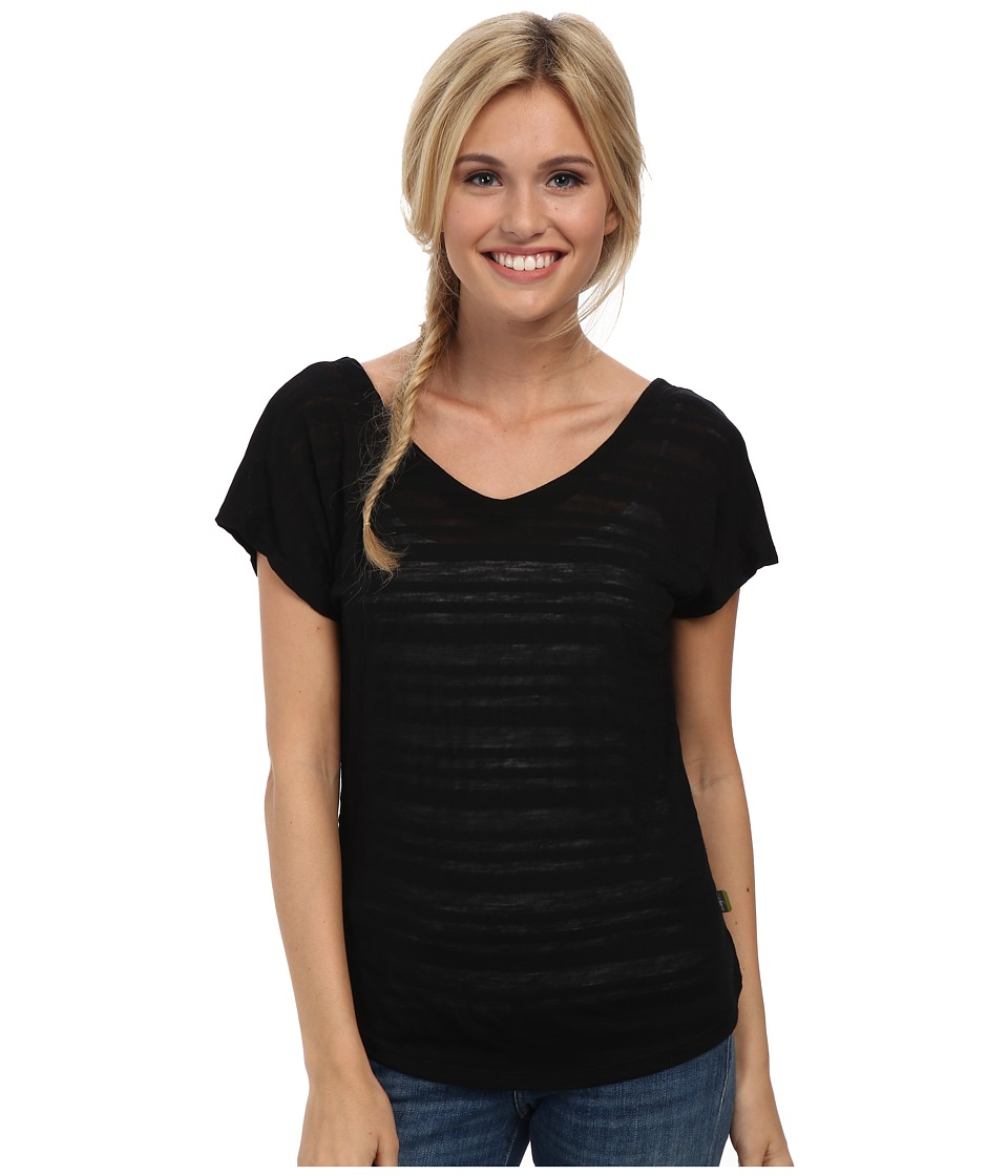 Smartwool - Burnout Reversible Tee (Black) Women's Short Sleeve Pullover