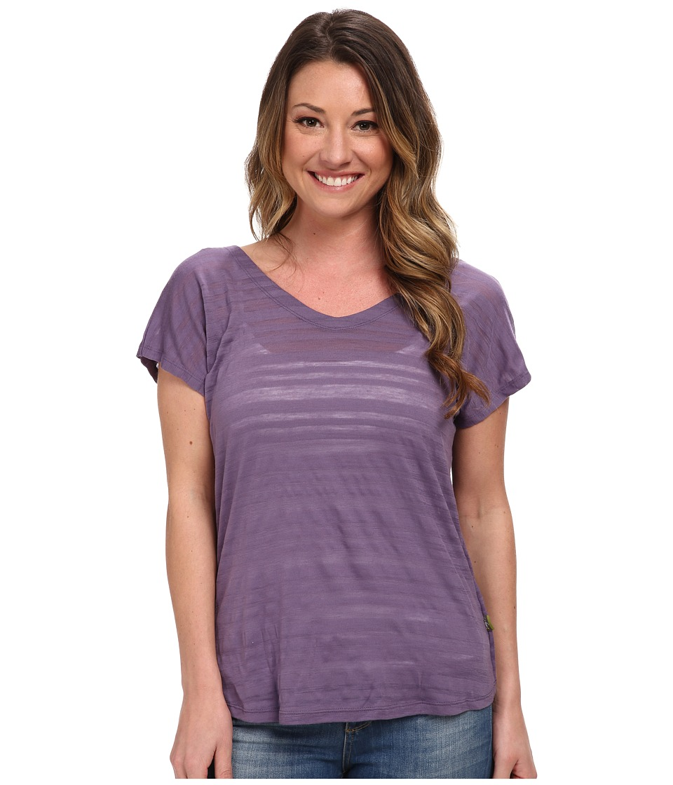 Smartwool - Burnout Reversible Tee (Desert Purple) Women's Short Sleeve Pullover