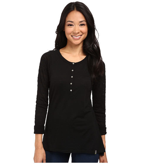 Smartwool - Burnout Henley L/S Top (Black) Women