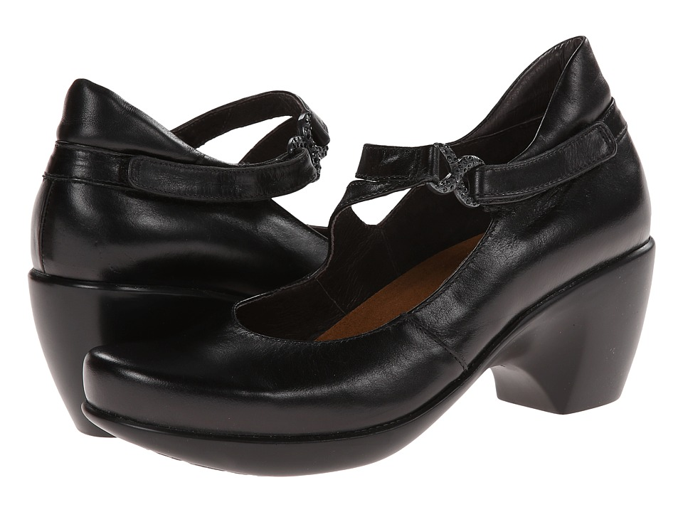 Naot Footwear - Perfect (Black Madras Leather) High Heels