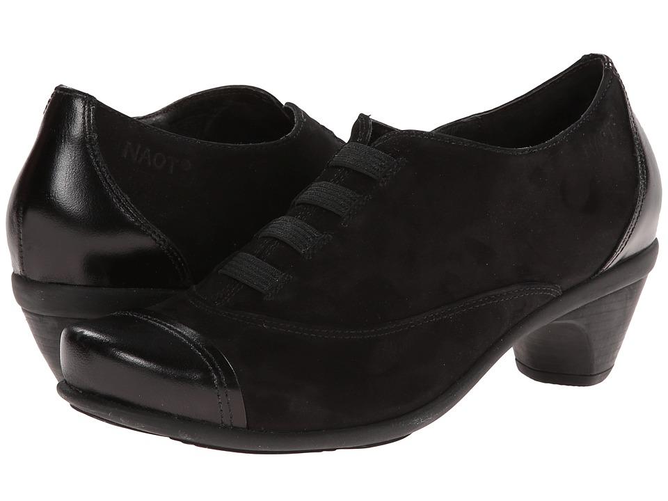 Naot Footwear - Royal (Black Velvet Nubuck/Black Madras) Women