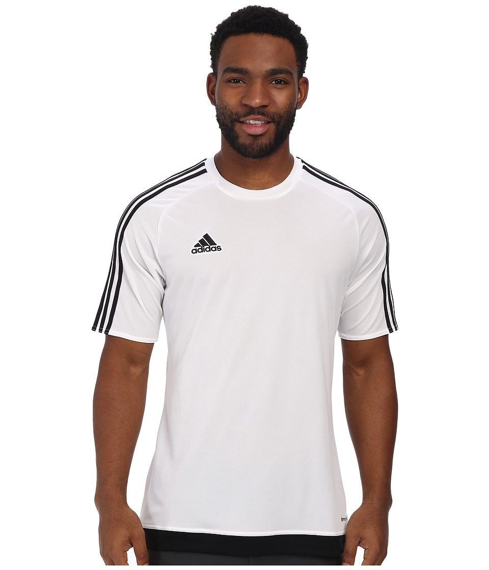 adidas - Estro 15 Jersey (White/Black) Men's Short Sleeve Pullover