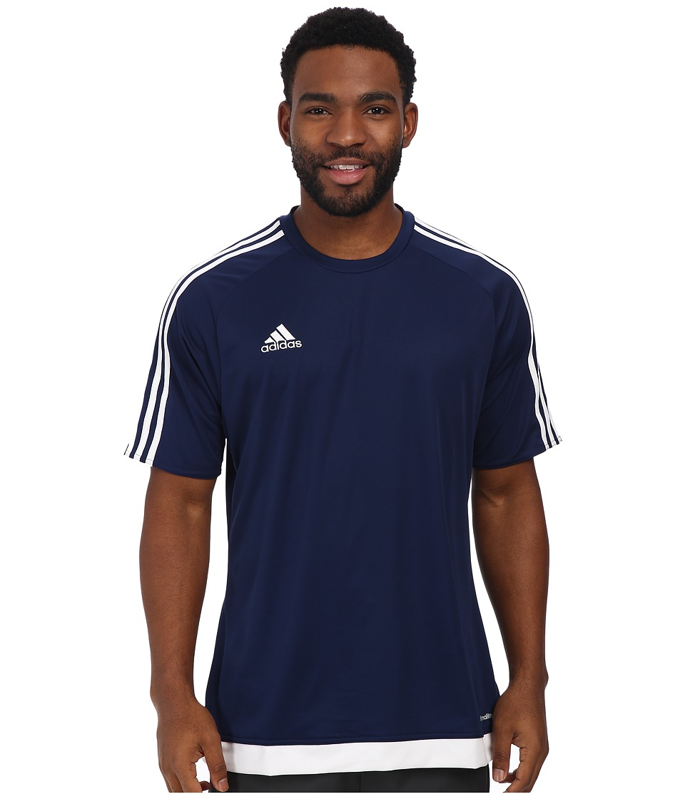 adidas - Estro 15 Jersey (Dark Blue/White) Men's Short Sleeve Pullover