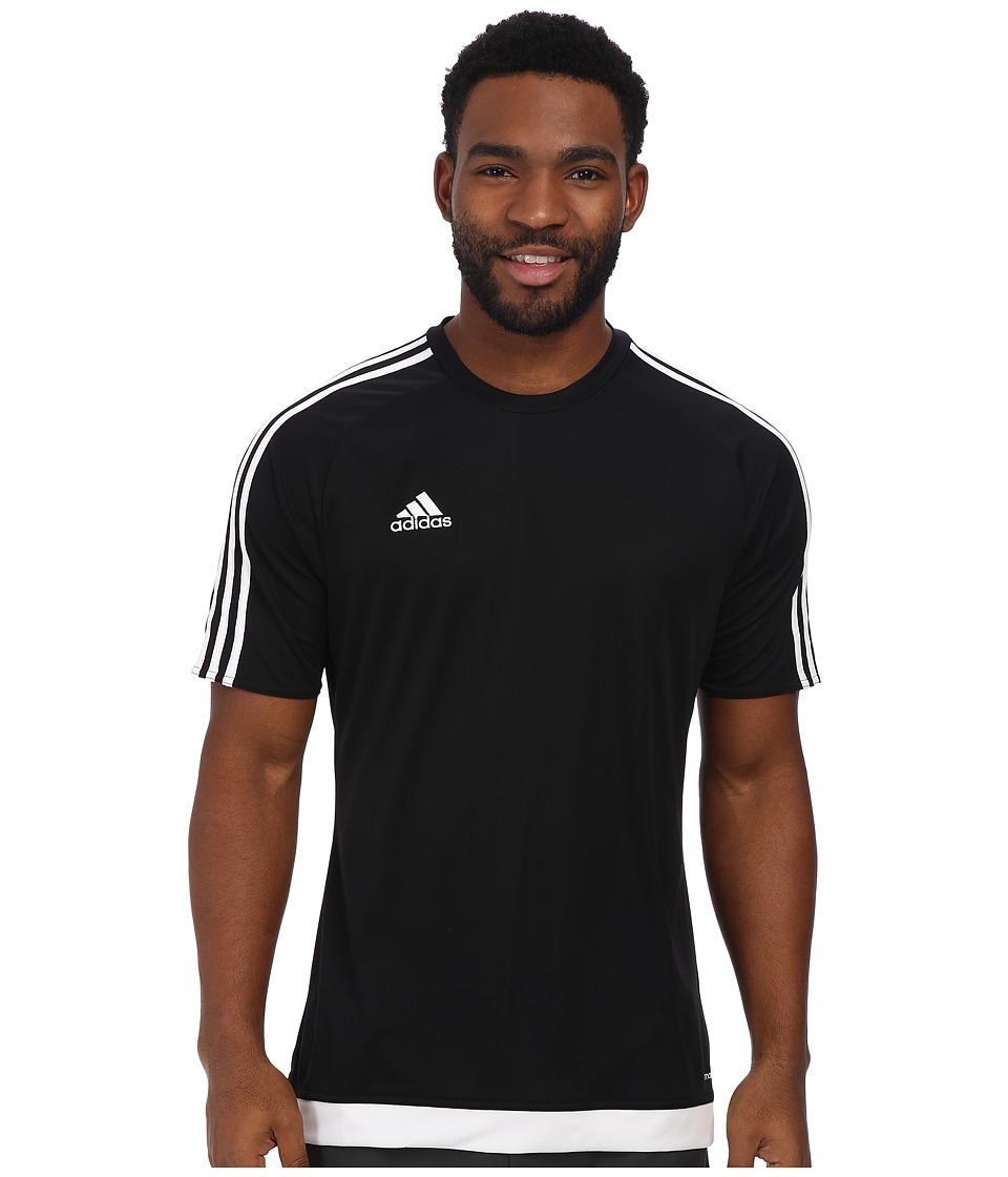 adidas - Estro 15 Jersey (Black/White) Men's Short Sleeve Pullover