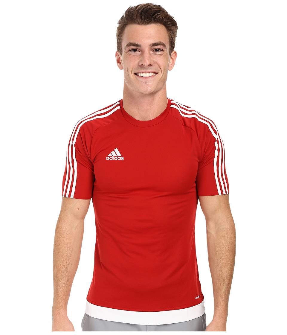 adidas - Estro 15 Jersey (Power Red/White) Men's Short Sleeve Pullover