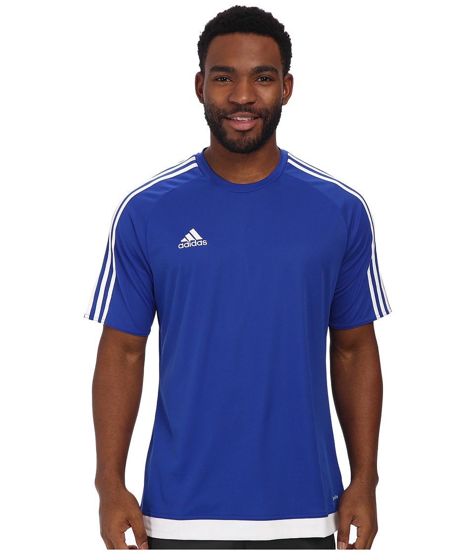 adidas - Estro 15 Jersey (Bold Blue/White) Men's Short Sleeve Pullover