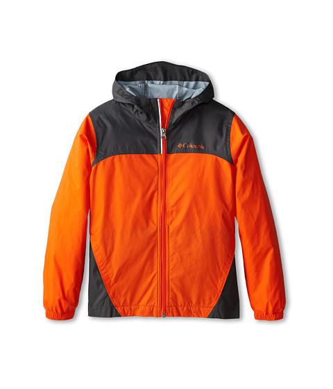 Columbia Kids - Glennaker Rain Jacket (Little Kids/Big Kids) (Tangy Orange/ Grill) Boy