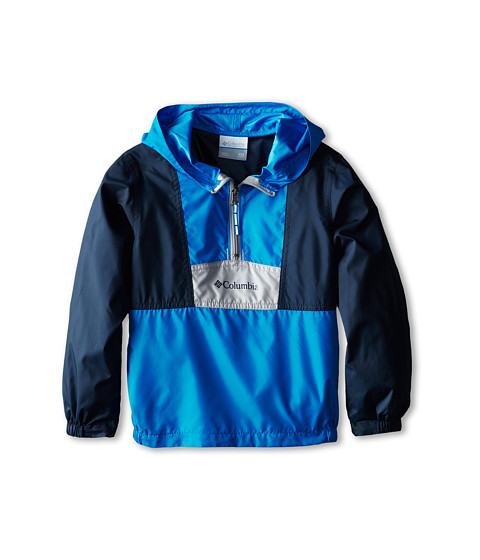 Columbia Kids - Flashback Windbreaker (Little Kids/Big Kids) (Hyper Blue/Collegiate Navy/Columbia Grey) Boy