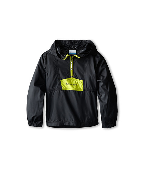 Columbia Kids - Flashback Windbreaker (Little Kids/Big Kids) (Black/Chartreuse/Grill) Boy