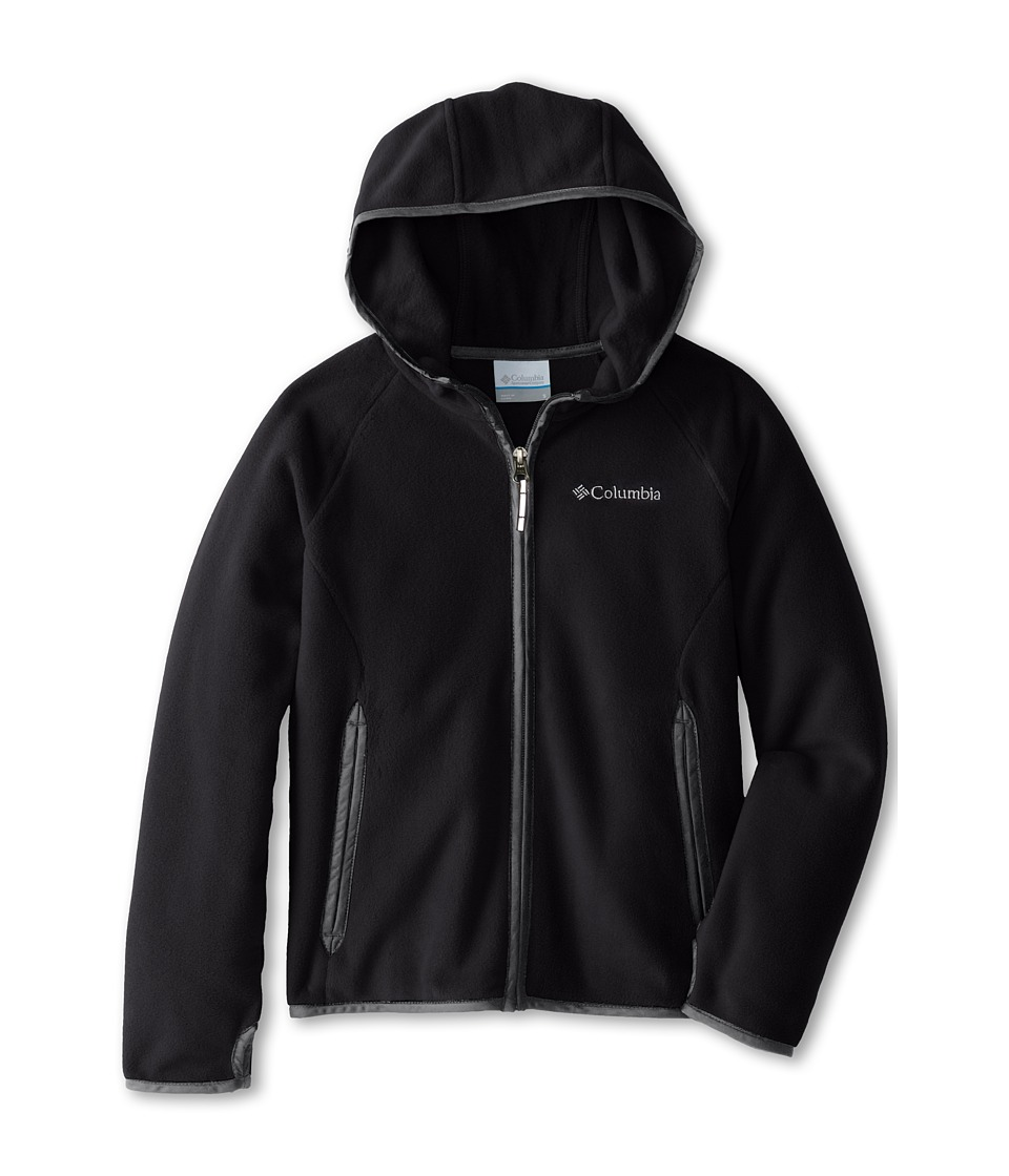 Columbia Kids - Fast Trek Hoodie (Little Kids/Big Kids) (Black/Grill 2) Boy's Sweatshirt