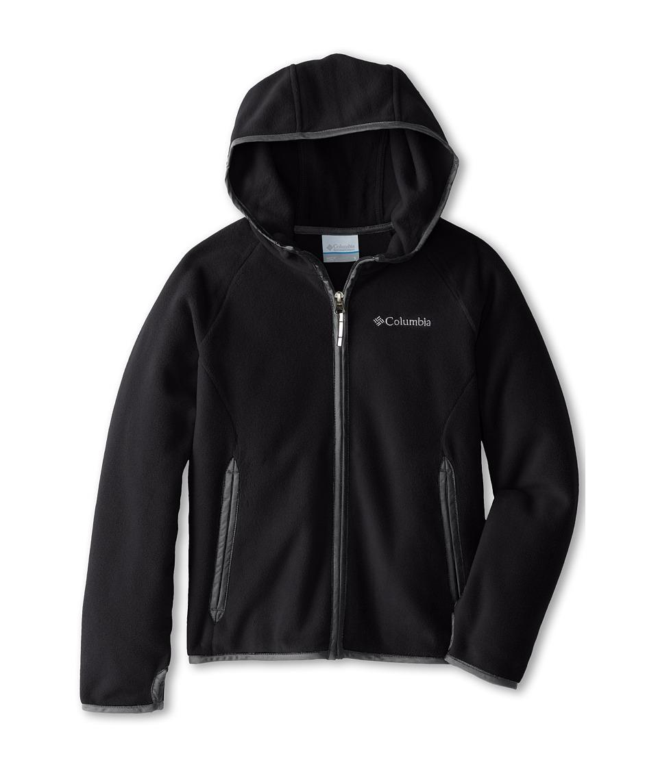 Columbia Kids - Fast Trek Hoodie (Little Kids/Big Kids) (Black/Grill 2) Boy's Sweatshirt