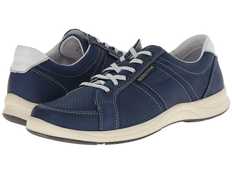 Mephisto - Hero Perf (Electric Blue Perceval/White Smooth) Men's Lace up casual Shoes